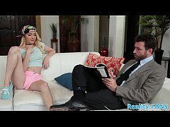 Smalltits teen babe banged by her stepdad