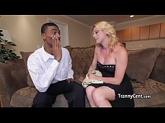 Tanny jerking cock with black dude