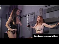 Bound Babe Kendra James Dominated By Crazy Angela Sommers!