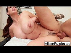 HD Alison Tyler gets cum on her tits