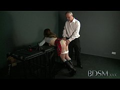 bdsm xxx ballgagged submissive girls ass plugged and fucked by her dom