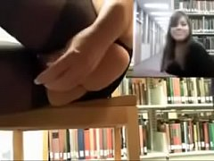 Girl dildoing her dripping wet pussy in the library vol 2 - Vixcams.com