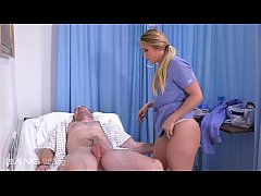 a.j. applegate gets duped into fucking her patient after washing his cock
