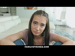 FamilyStrokes - Stepdaughter with Big Ass Seduces & Fucks Dad