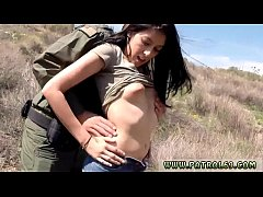 Ebony hardcore threesome squirt Mexican officer prpopses Kimberly