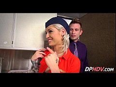 Blonde babe with tats flight attendant fuck 1 002