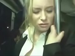 Cute girl fingered in public bus