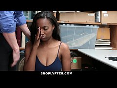 shoplyfter - hot ebony cutie sucks cock to avoid jail