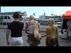 scandi teen anal threesome in public