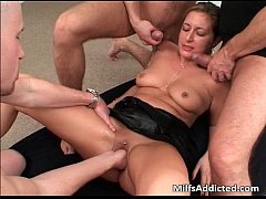 Fantastic gang bang fucking action