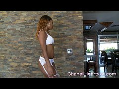 Ebony Freak Chanell Heart Gives A Seductive Teaze