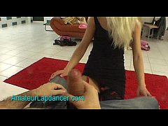 Horny blonde chick does wild lapdance