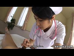 Japanese Nurse Sucking Fat Cock POV