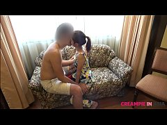 Japan cums inside the the belly of a Thai girl