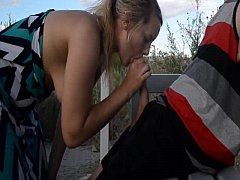 Outside fuck with nasty girlfriend