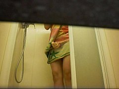 Real voyeur! Young studente in the shower