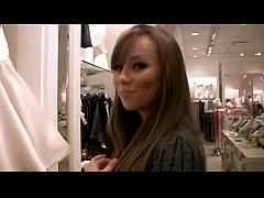 Cute Capri Anderson gets naked in a dressing room