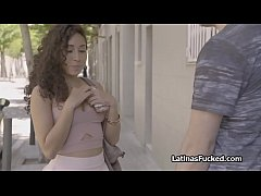 Pounding juicy Latina babe from the street