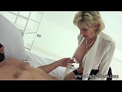 Busty blonde mature has her pussy pounded by a big dick
