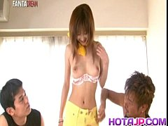 Mio Komori Asian sweetie is stripped and fucked...