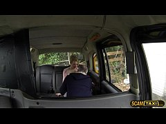 Gorgeous blonde Paige in wild adventure in the fake cab