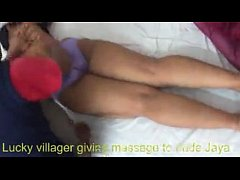 Lucky Villager Giving Massage To Sext Naked Jaya Part 1
