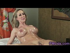 Hot busty milfs plays after massage