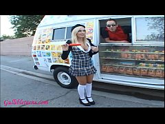 icecream truck cute teenager blond schoolgirl gets fucked hard