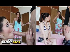 BANGBROS - Stepmom Teaches Step Daughter How To Take A Big Cock