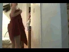 Hot girl caught after shower