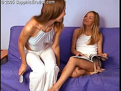 Angelique and Catherine lesbian love making on Sapphic Erotica