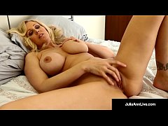 Beautiful MILF, Julia Ann, Bangs Her Pussy For Fan, Walter!