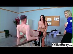 (Alison Tyler & Julia Ann) Busty Office Girl In Hard Style Sex Action clip-01