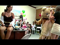 DANCING BEAR - Alaina Brooke's CFNM Fiesta With Big Dick Male Strippers!