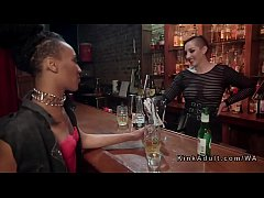 New dyke orgy dominated in bar