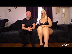 HD SEXTAPE GERMANY - Chubby German blonde slut sucks cock for first time porn