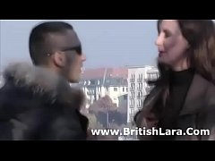 British mature lady meets young guy for sex