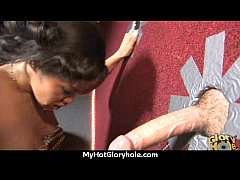 hot couple having oral sex in gloryhole interracial 23