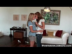Super hot lesbian love with two super