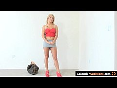 Super Hot Blonde Amateur Sucks Dick At Calendar Audition