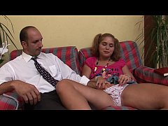 The look of the filth old pig on her young and slutty daughter