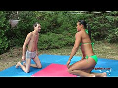 MX-02: Tia vs Sunny - competitive mixed wrestling