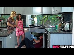 Sarah Vandella joins Lily Jordan in a 3some fuck