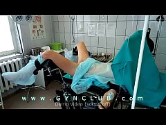 Girl on surgery table - dildo massage