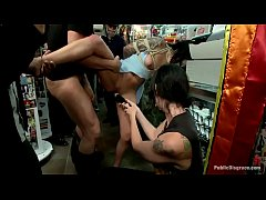 Super Hot Karmen Karma Has An Amazing Group Sex In A Shop-br=949