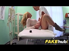 HD Fake Hospital Dirty doctor gives blonde Czech babe wet panties
