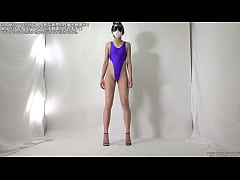 High-leg leotard fetish