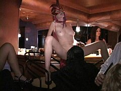Flexible MILF and friends fuck in Trapeze sex club