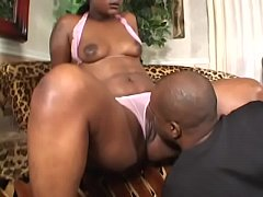 Horny ebony gal X-Rated with natural tits gets her tight cunt banged hard by a black dick