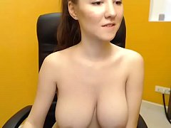 Innocent girl topless showing her beautiful body on webcam